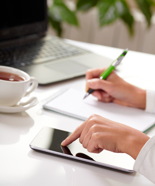 A home-based sole proprietor in Canada or US learning good bookkeeping practices.