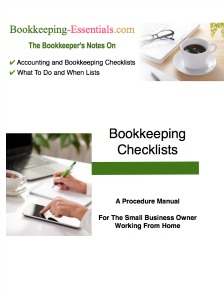 Bookkeeping checklist that are a handy reference.