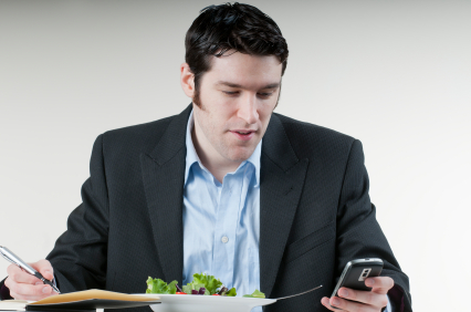 Eating lunch at your desk while continuing to work is not a tax deductible expense.