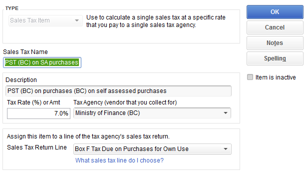 how to create tax in qbo