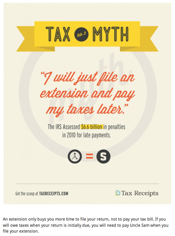 TaxReceipts.com - Tax Myth #2 – Just File An Extension