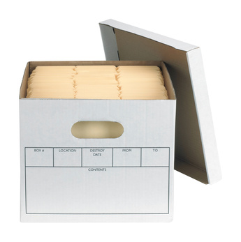 Bookkeeping with a file box