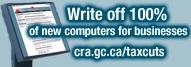 Computer Capital Cost Allowance (CCA) Tax Deduction