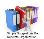 A series of chats of how to organize files and business receipts for work from home business owners.