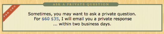 Ask a Private Bookkeeping Question