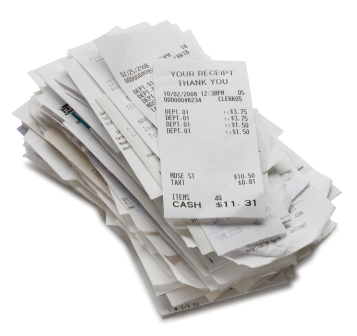 Can I adjust the sales tax on a receipt when entering my data?