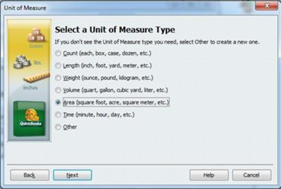 Select Unit of Measure Type