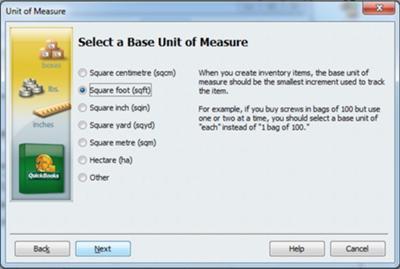 Select a Base Unit of Measure