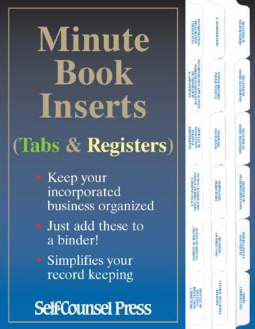 canadian corporate minute book