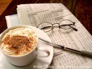image of newspaper with cuppacina courtesy of Willie Cloete