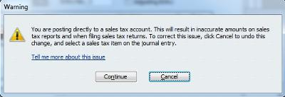 Recreated Your Sales Tax Error Message