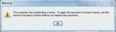 This is the message you ignored when making your bank deposit for the customer payment received.
