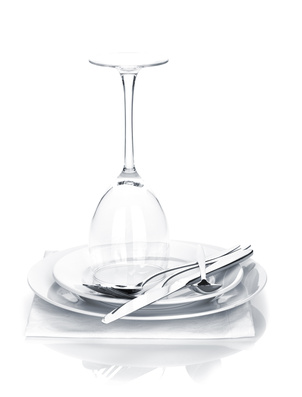Recording restaurant dinnerware purchases.