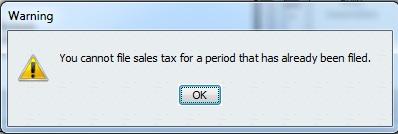 Cannot File Prior Period GST/HST Tax Return