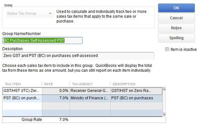 Picture 4 PSZ Tax Group Setup