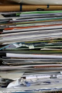 What is a good method to sort and organize business receipts from multiple years?