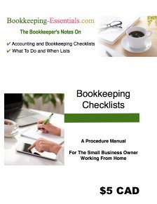 Bookkeeping checklists that are a handy reference.