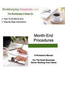 Monthend Bookkeeping Procedures Manual