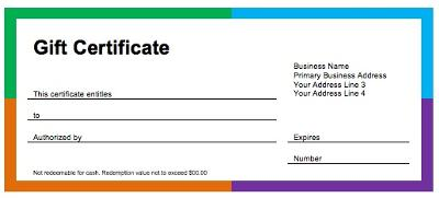 Accounting for Gift Certificates Donated