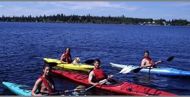 Kayaking is a family affair