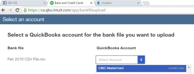 Map your bank data to QBO chart of accounts.