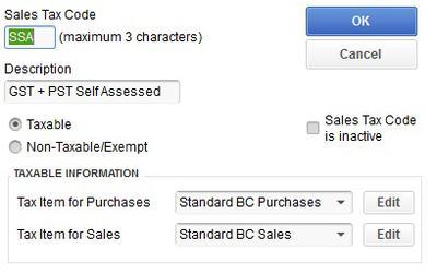 Picture 3 SSA Tax Code Setup